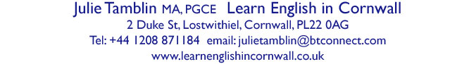 address of Learn English in Cornwall