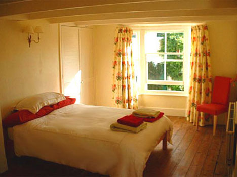 Guest room at learn english in cornwall